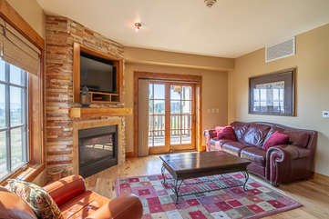 Family Seating with Fireplace