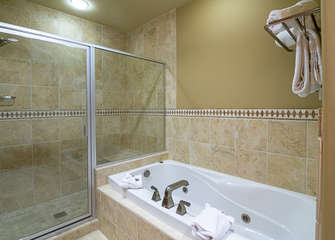 Master Bath with Jetted Tub and Walk-in Shower