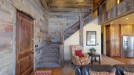 Beautiful barn wood walls.