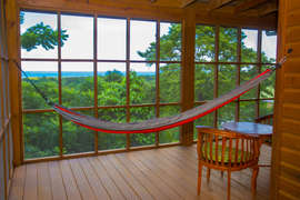 Relax in the hammock enjoying the ocean view