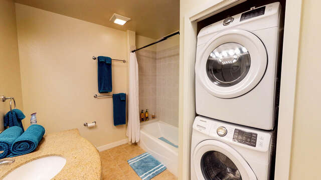 Second Bath with Laundry Center