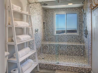 Master shower with a view!