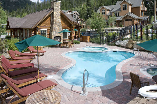 Clubhouse with pool just steps from the unit door!