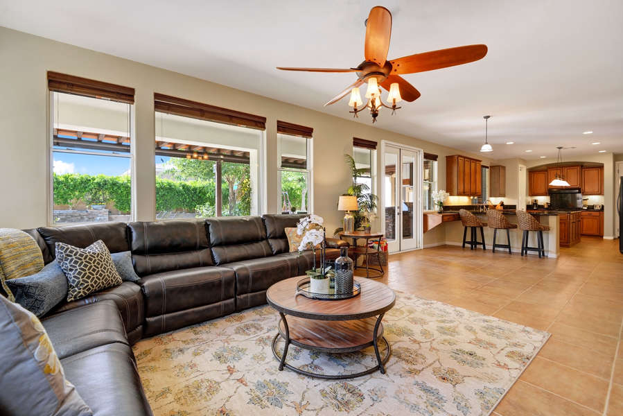 Open concept living space that is great to entertain