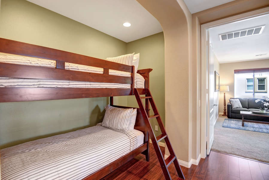 Additional loft with twin bunk bed.