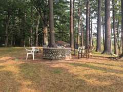 Community Fire Pit by the Lodge. Each cabin, however, has its own fire pit as well!