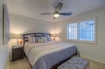 Split bedroom floor plan puts second master bedroom upstairs