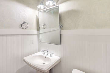 Downstairs powder room off the dining room