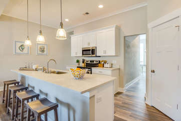 Beautiful custom cabinets and spacious pantry