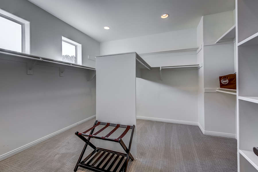 Master bedroom large walk in closet