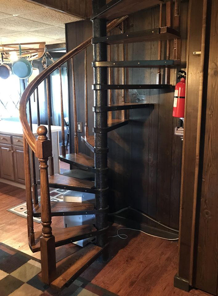 Spiral Staircase to Upstairs Bedrooms