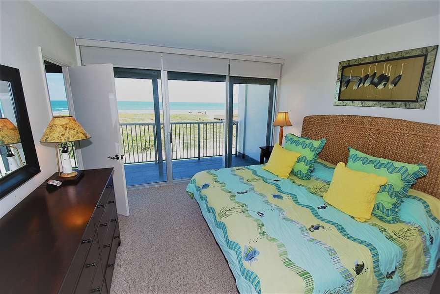 Master bedroom with beach view