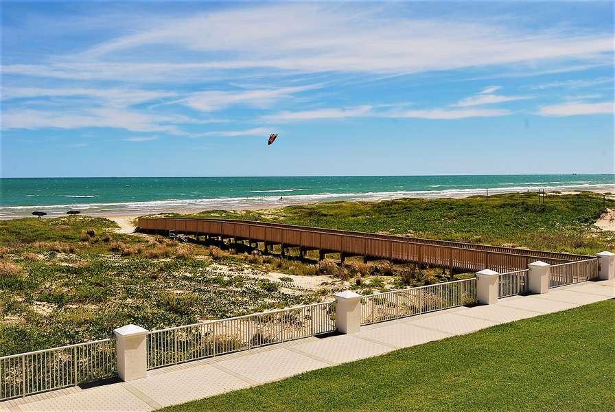 Private dune walkover for the condo
