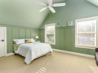 Upstairs second bedroom.  Full size bed w/additional pull out love seat/sleeper