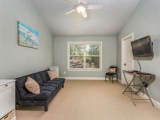 Upstairs Game Room - large closet, TV, DVD, sofa converts to full size bed