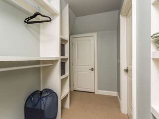 Upstairs 3rd bedroom closet. Access from bathroom and hall. Very spacious.