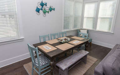 Dining Area Seats 8 at table with 3 Breakfast Bar seats