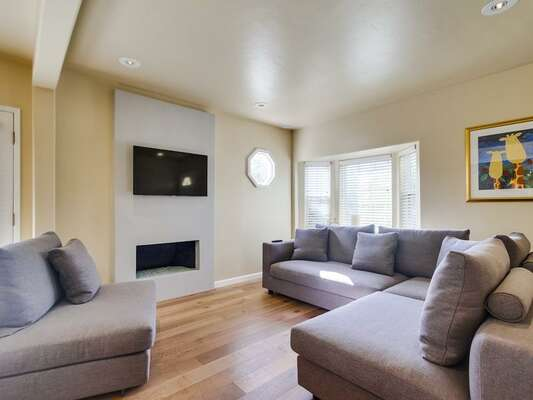 open-concept living area, comfortable seating