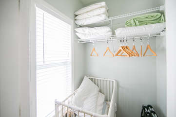 Large Closet with Full Size Crib