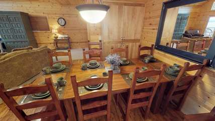 There is also plenty of seating to enjoy a meal around the table.