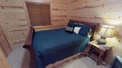 Bear Hollow also has another private bedroom with a queen bed.