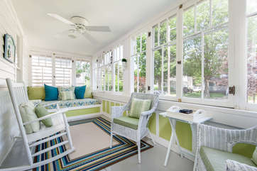 Sun Porch at Front of Home