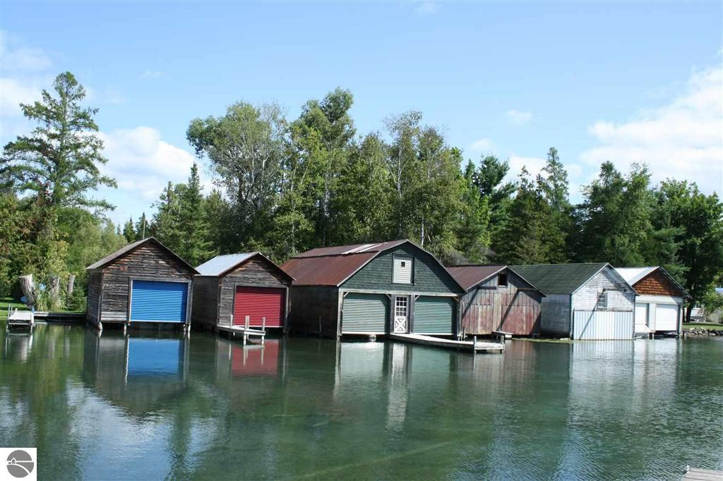 View of Boathouses across the river