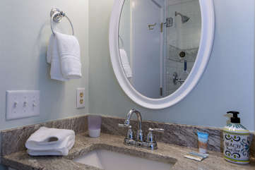 Completely updated guest bathroom.