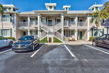 Condo Located in this Building! Quiet Neighborhood with Ample Parking! Center Unit on 2nd Level!