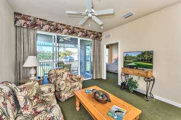 Family Room With Flat Screen TV;