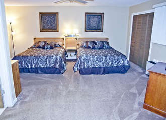 Master bedroom with 2 full beds