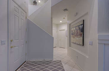 Attractive foyer makes you feel welcome in your home away from home