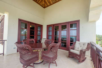 La Beliza 605  Deck 3rd floor views of the white sand beaches and relaxing palms