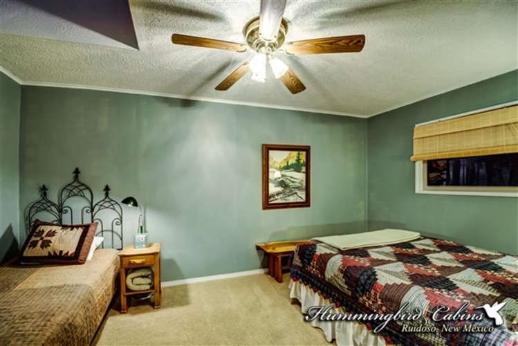Guest bedroom with queen bed and twin  bed