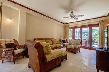 La Beliza 201 Living Room view of Tropic Blss