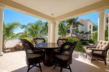 La Beliza 201 Deck enjoy the beach, ocean view and warm tropic breeze
