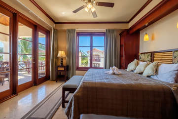 La Beliza 205 Large Master Bedroom with view of white sandy beaches