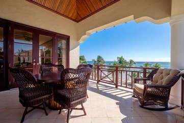 La Beliza 205 veranda view from the 3rd floor