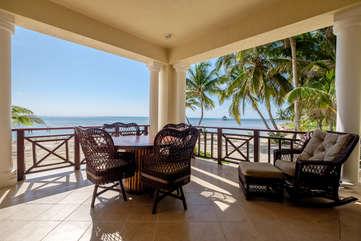 La Beliza Master Veranda Beach Front view