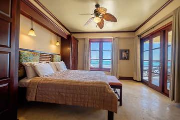 La Beliza 604 Master Bedroom suite beach front view