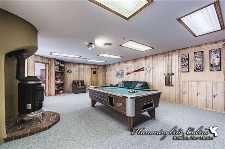 Pool table for guest use