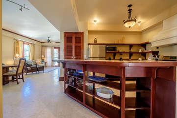 La Beliza 603 kitchen and main living area