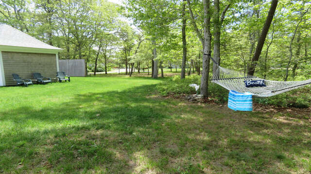 Large back yard to relax in! 33 Pine Grove West Harwich Cape Cod -  New England Vacation Rentals