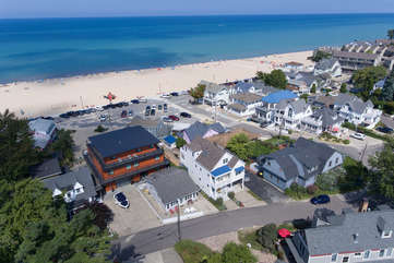 North Beach Aerial with concession stand to the north of The Hideout