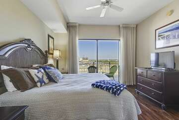 Master bedroom with balcony entry
