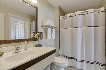 Nice, spacious, comfortable bathroom