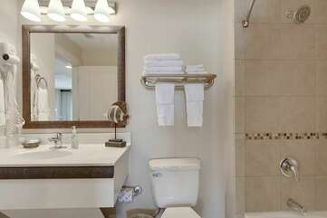 Full bathroom connected with master bedroom
