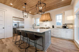 Kitchen island with bar seats