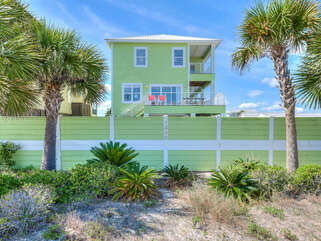 Sea Urchins deck from West Beach Blvd. You could call this home!