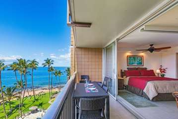 Lanai view and master bedroom